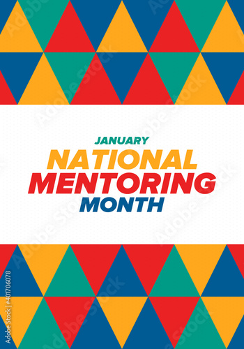 National Mentoring Month in January Fototapet