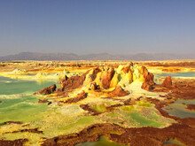 A Beautiful Shot Of Salt And Sulfur Formations  Dallol Volcano In The Danakil Depression