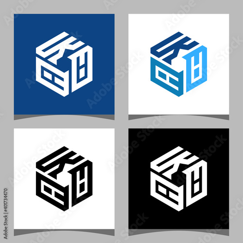 Creative initial letter KAA logo design concept Wallpaper Mural