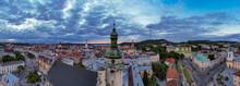 Aerial View On Bernardine Church In Lviv From Drone