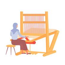 Carpet Weaving Illustration