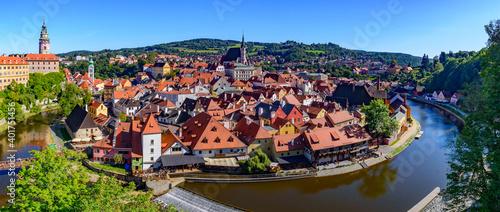 Fotografering Panorama of Český Krumlov in the Czech Republic