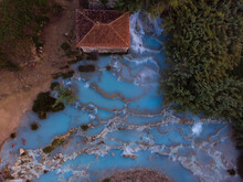 [Italy] The Thermal Hot Springs Of Saturnia W/- A Constant Perfect Temperature Of 37.5 Degrees.