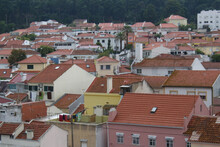 An Old Town Cityscape With Rural Traditional Red-tiled Buildings