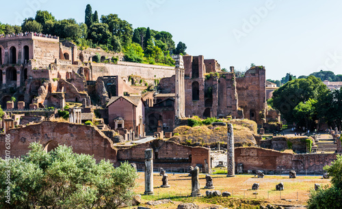 Obraz na plátně The ancient Roman Forum in Rome, Italy.