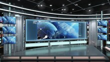 Virtual TV Studio News Set 1.2.11 Green Screen Background. 3d Rendering. Virtual Set Studio For Chroma Footage. Wherever You Want It, With A Simple Setup, A Few Square Feet Of Space, And Virtual Set.