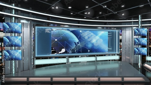 Fototapeta Virtual TV Studio News Set 1