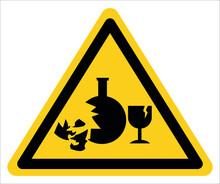 Warning, Broken Glass Is Dangerous.