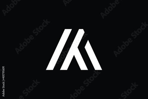 Fotografie, Tablou MT logo letter design on luxury background