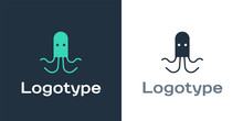 Logotype Octopus Icon Isolated On White Background. Logo Design Template Element. Vector.