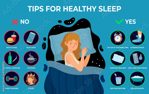 Canvas Print Healthy sleep rules