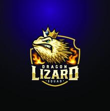 Esport Lizard Dragon Logo Character
