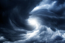 Blurred Whirlwind In The Clouds