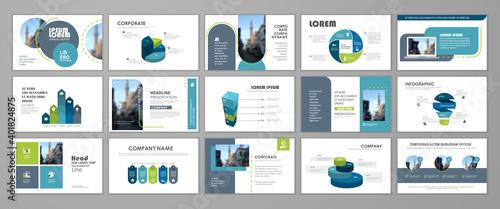 Fototapeta Presentation flyer set obraz na płótnie