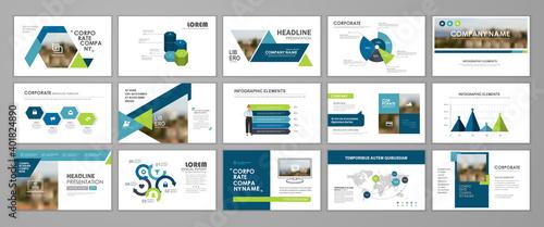 Fototapeta Corporate slideshow templates obraz