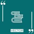 book vector icon Linear icon. Editable stroked line