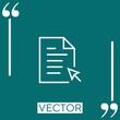 file vector icon Linear icon. Editable stroke line
