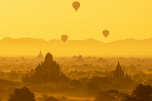 Ancient Bagan Sunrise After 2016 Earthquake