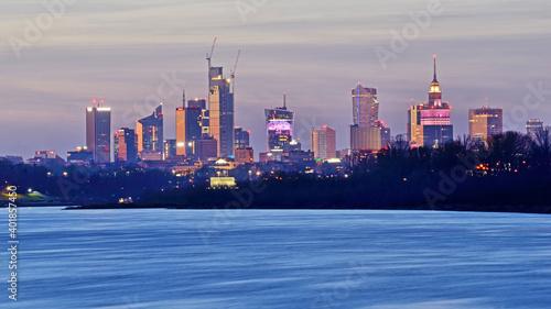 Obraz Warsaw, Poland - view of the city. - fototapety do salonu