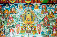 Buddhist Temple, Buddhist Stupa, Buddhist Frescoes And Icons, Painting On The Walls, Buddhist Thangkas, Tibetan Buddhism, Ladakh, Zanskar, Tibet And The Tibetan Plateau,