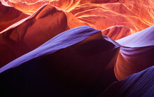 The Sandstone Of This Slot Canyon Is Sculpted Into Fanciful Waves By Wind, Water, And Sand. Lower Antelope Canyon.