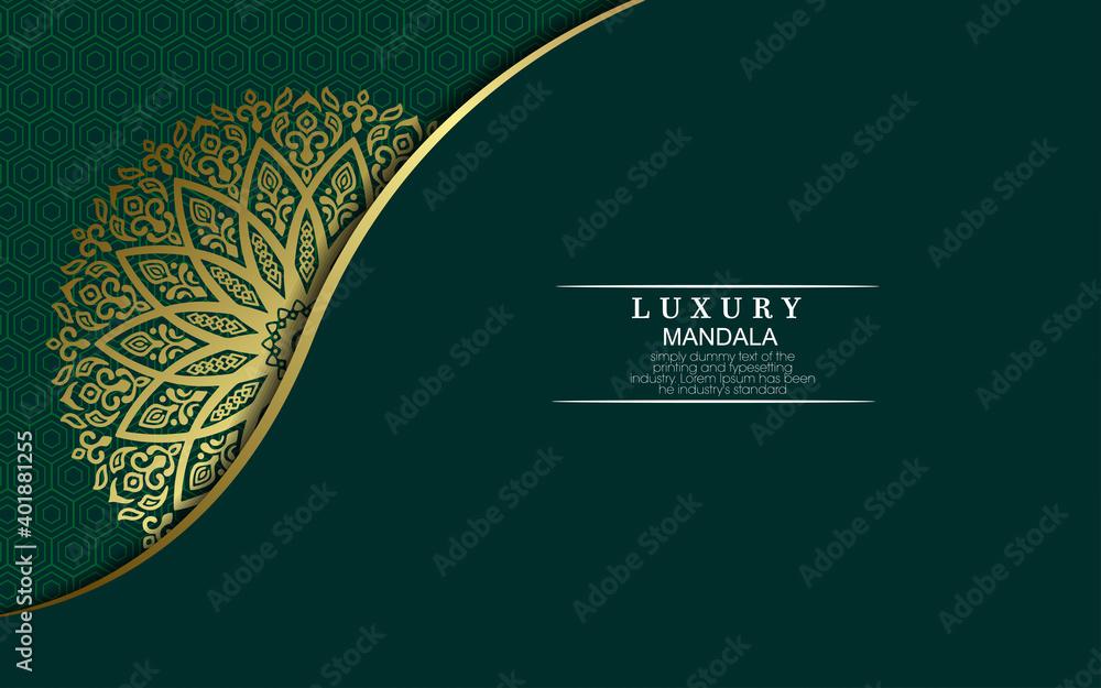 Fototapeta Luxury ornamental mandala background with arabic islamic east pattern style premium vector