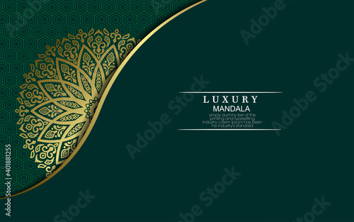 Obraz Luxury ornamental mandala background with arabic islamic east pattern style premium vector - fototapety do salonu