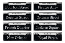 New Orleans French Quarter Downtown City Neighborhood Street Signs Historic Iconic Vieux Carre
