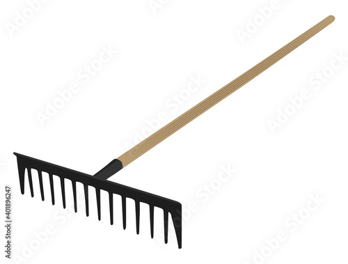 Fotografie, Obraz Big rake, illustration, vector on a white background.
