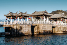 Guangji Bridge, Is An Ancient Bridge That Crosses The Han River In Chaozhou, Guangdong Province, China. A Key Cultural Relic Under National Protection.