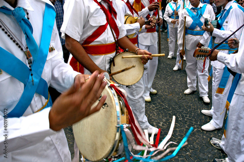 Grupo folclórico de Moçambique. São Paulo Fototapet