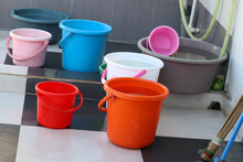 Colorful Buckets With Paint
