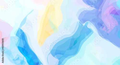 Fototapeta Bright abstract background, digital watercolor artwork made with organic geometric shapes. Colorful trendy art obraz