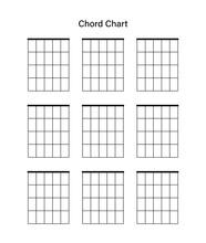 Set Of Chord Chart. Chord Diagram. Vector Illustration. Tab Empty. Tabulation.