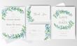 watercolor Wedding Invitation card set template