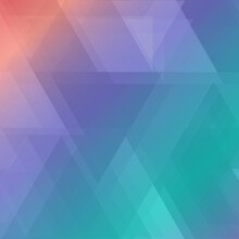 Abstract Colored Background From Different Triangles - Vector