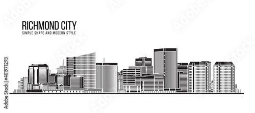 Obraz na plátně Cityscape Building Abstract Simple shape and modern style art Vector design - Ri