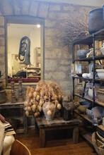A Vertical Shot Of The Interior Of An Antique Store In Fredericksburg, Texas, USA