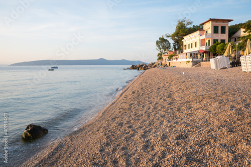 Photo deserted beach Sv. Ivan, Moscenicka Draga tourist resort