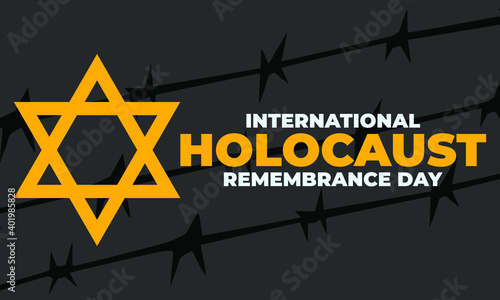 Obraz na plátně International Holocaust Remembrance Day is an international memorial day on 27 January commemorating the tragedy of the Holocaust that occurred during the Second World War