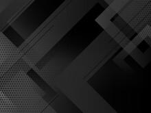 Dark Geometric Black Abstract Background Elegent Design Pattern