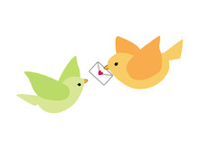 心のこもった手紙を運ぶ鳥
