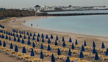 Dorada Beach In The Town Of Playa Blanca. Yaiza. Lanzarote. Canary Islands. Spain.