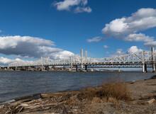 John F Kennedy Bridge From The Louisville Kentucky Side