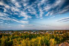 Residential Area, Sunset, Rouyn-Noranda, Abitibi, Quebec, Canada