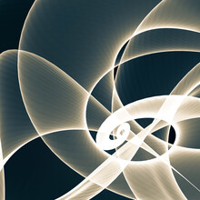 Abstract Fractal Background With Circles