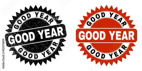 Fotografie, Obraz Black rosette GOOD YEAR seal stamp