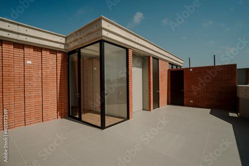 Obraz terraza vista lujo  - fototapety do salonu