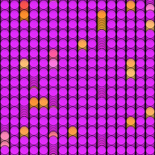 Cartoon Background With Pink And Orange Circles Seamless Pattern