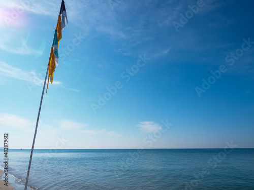 Beachside during the day with clear sky and beautiful beaches in Thailand Wallpaper Mural